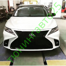 Бампер в стиле Lexus на Camry 70 NEW 2018+