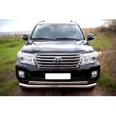 Защита переднего бампера на Toyota LAND Cruiser 200